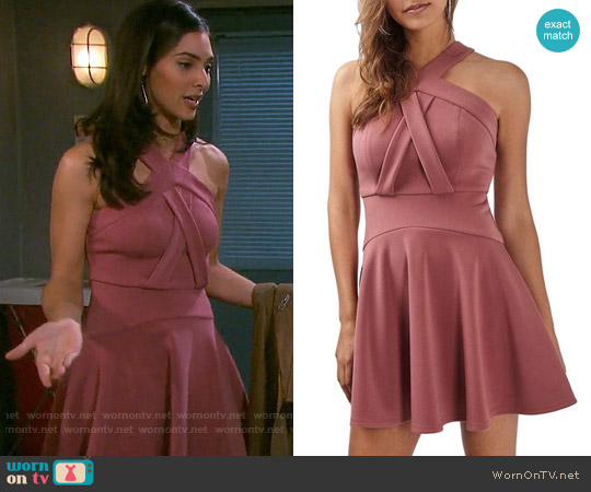 Topshop Cross Neck Skater Dress worn by Gabi Hernandez (Camila Banus) on Days of our Lives