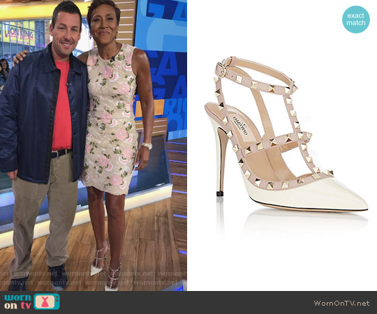 Rockstud Caged Pumps by Valentino worn by Robin Roberts on Good Morning America