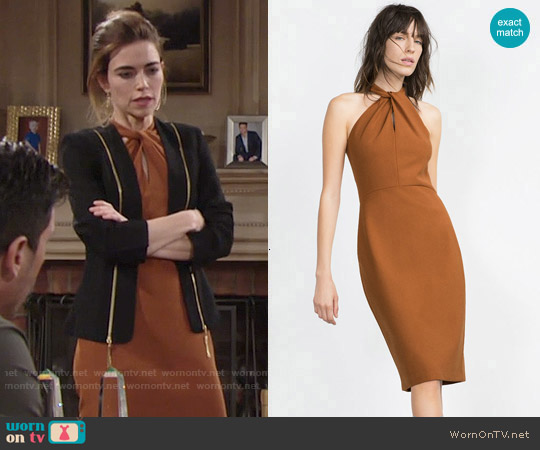 Zara Long Tube Dress worn by Victoria Newman on The Young & the Restless