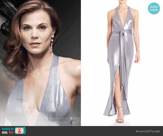 ABS Metallic Jersey Gown worn by Phyllis Newman (Gina Tognoni) on The Young & the Restless