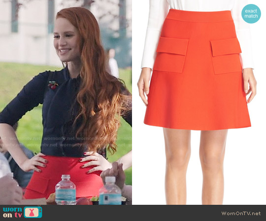 ALC Aaron Skirt worn by Cheryl Blossom (Madelaine Petsch) on Riverdale