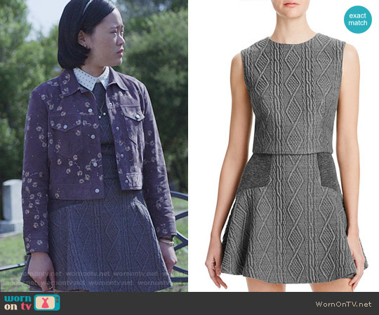 Alice + Olivia Klynn Top and Elsie Skirt in Cable Knit worn by Michele Selene Ang on 13 Reasons Why