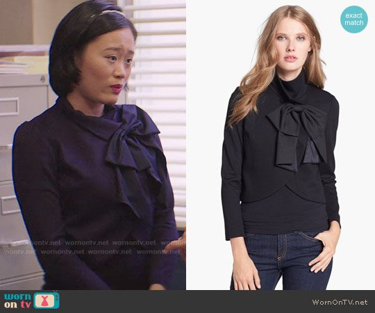 Alice + Olivia Addison Jacket worn by Courtney Crimsen (Michele Selene Ang) on 13 Reasons Why