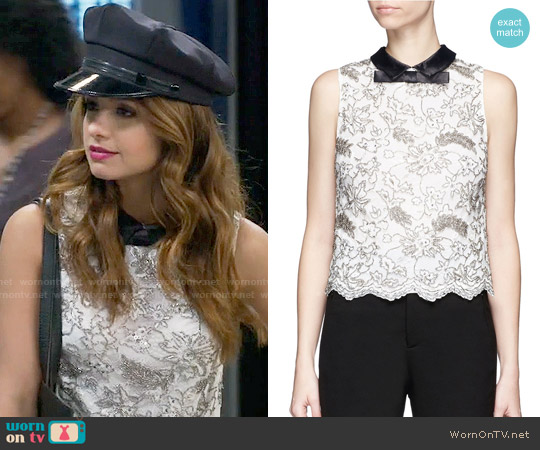 Alice + Olivia Manie Top worn by Sofia Rodriguez (Aimee Carrero) on Young & Hungry