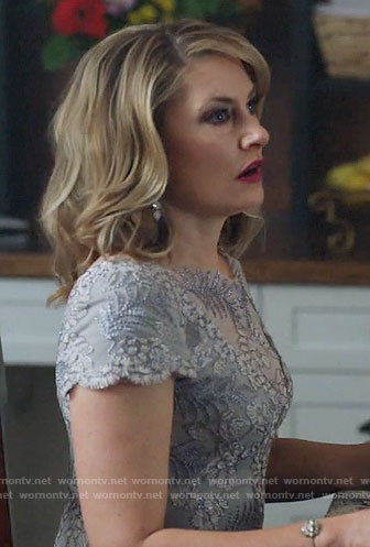 Alice's grey embroidered dress on Riverdale