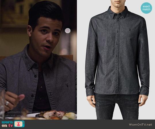 All Saints Foundry Shirt worn by Tony Padilla (Christian Navarro) on 13 Reasons Why