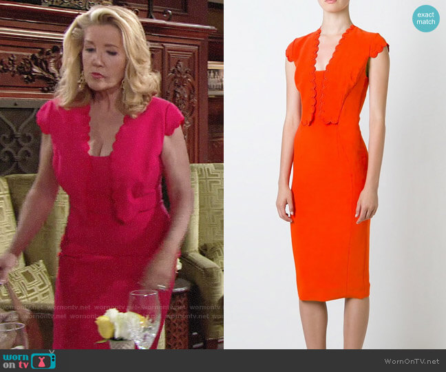 Antonio Berardi Scallop Detail Dress worn by Melody Thomas-Scott on The Young & the Restless