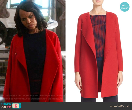 Armani Collezioni Double Face Wool & Cashmere Coat worn by Kerry Washington on Scandal