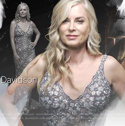 Ashley's lace gown on The Young and the Restless opening credits