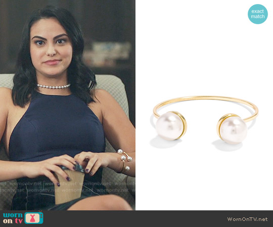 Baublebar 'Gemini' Faux Pearl Cuff worn by Veronica Lodge on Riverdale