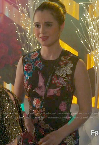 Bay's bird embroidered dress on Switched at Birth