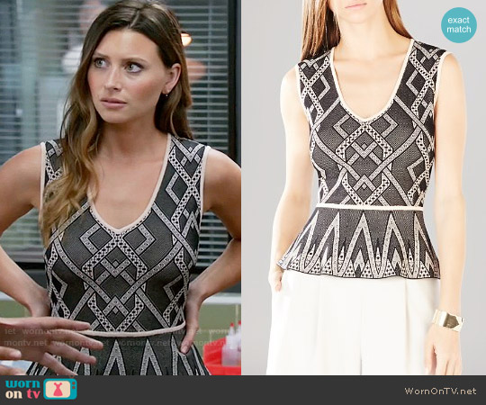 Bcbgmaxazria Alonya Top worn by Aly Michalka on iZombie