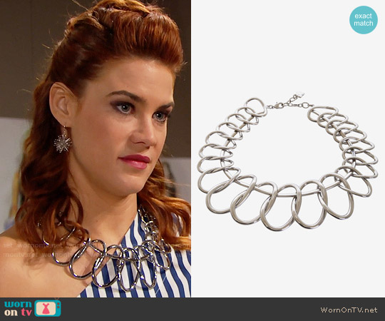 Bcbgmaxazria Linked Oval Necklace worn by Courtney Hope on The Bold & the Beautiful