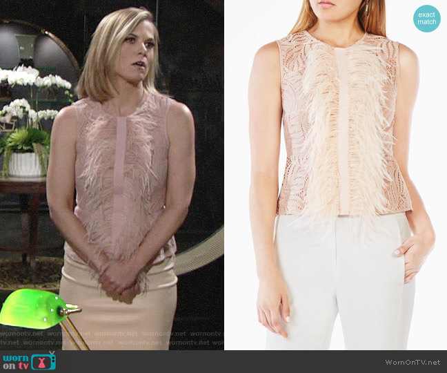 Bcbgmaxazria Meg Top worn by Gina Tognoni on The Young & the Restless