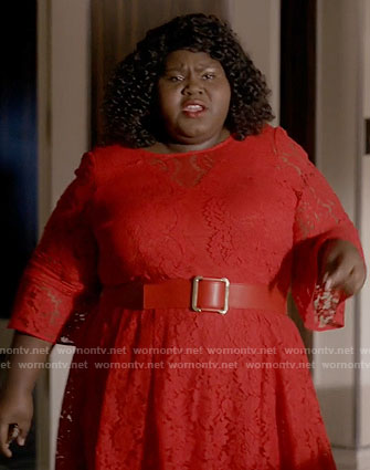 Becky's red lace dress on Empire