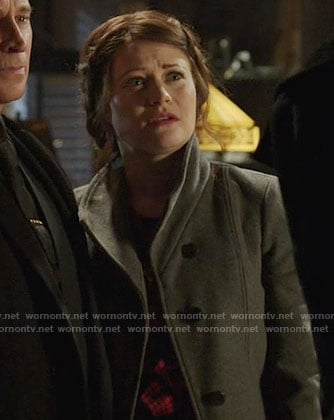 Belle's grey coat on Once Upon a Time