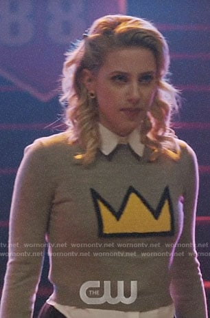 Betty's crown sweater on Riverdale