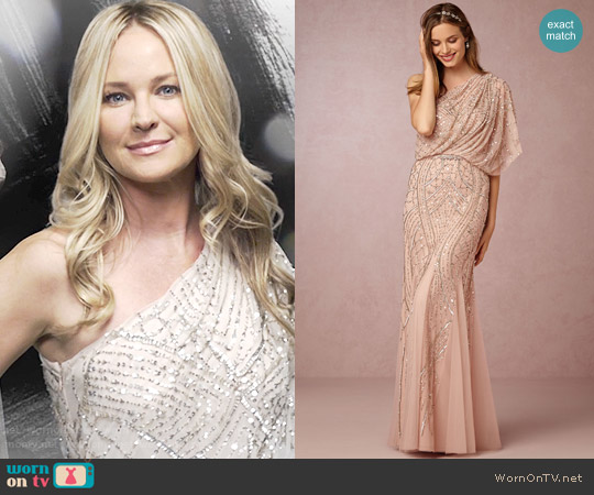 Adrianna Papell at BHLDN Abigail Dress worn by Sharon Collins (Sharon Case) on The Young & the Restless