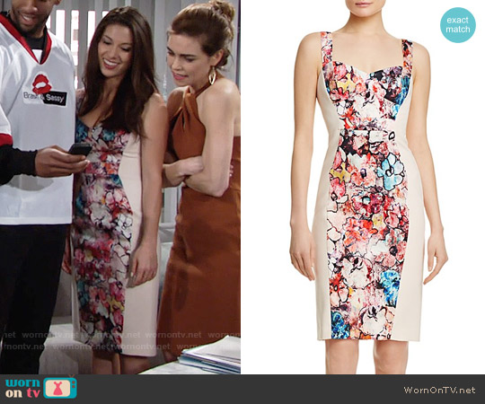 Black Halo Sadie Dress worn by Laur Allen on The Young & the Restless