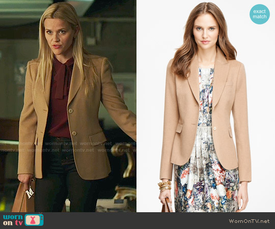 Brooks Brothers Camel Hair Two-Button Jacket worn by Madeline Martha Mackenzie on Big Little Lies