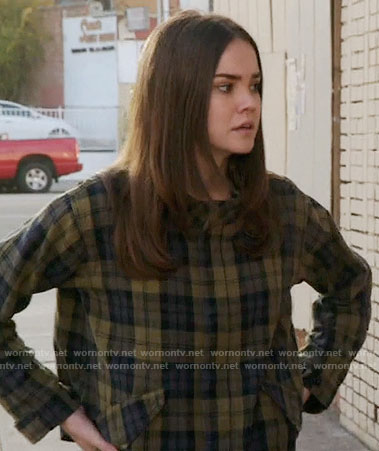 Callie's green plaid jacket on The Fosters