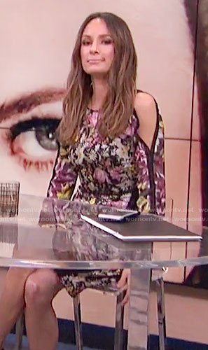 Catt's floral cold-shoulder dress on E! News