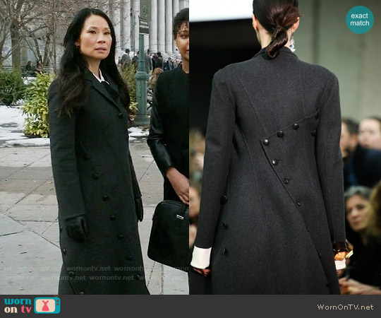 Celine Fall 2014 Coat worn by Joan Watson (Lucy Liu) on Elementary