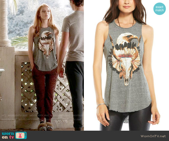 Chaser Eagle Headdress Tank worn by Paige Townsen (Bella Thorne) on Famous in Love