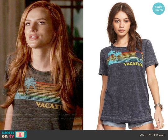 Chaser Vacation Tee worn by Bella Thorne on Famous in Love