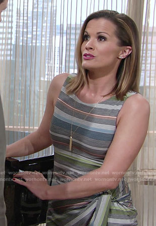 Chelsea's striped knotted dress on The Young and the Restless