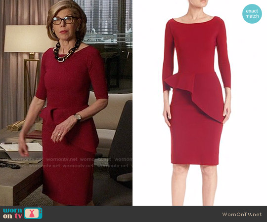 La Petite Robe di Chiara Boni Ripley Dress worn by Christine Baranski on The Good Fight