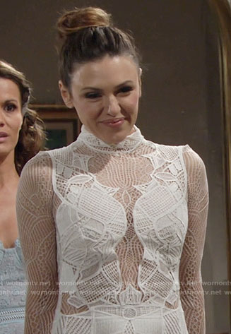 Chloe's wedding dress on The Young and the Restless