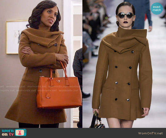 Christian Dior Fall 2016 Collection Coat worn by Kerry Washington on Scandal