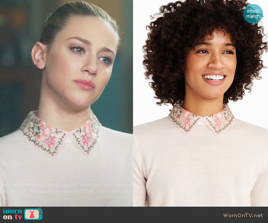 Club Monaco Kalani Sweater worn by Betty Cooper (Lili Reinhart) on Riverdale