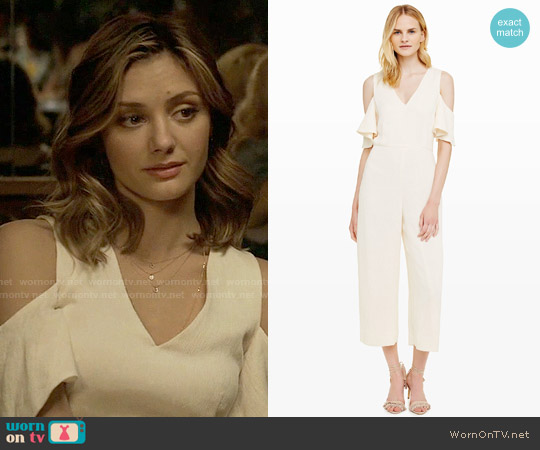 Club Monaco Lenera Jumpsuit worn by Megan Morrison (Christine Evangelista) on The Arrangement