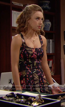 Coco's floral pleated dress on The Bold and the Beautiful