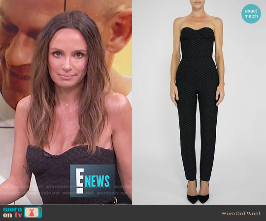 Colton Dane SS17 Collection Jumpsuit worn by Catt Sadler (Catt Sadler) on E! News