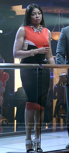 Cookie's black and red colorblock dress on Empire