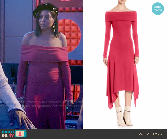 Derek Lam Solid Off-The-Shoulder Dress worn by Taraji P. Henson on Empire