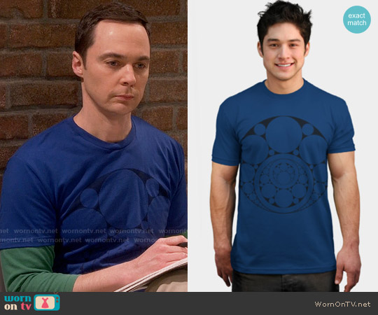 Design by Humans Inner Circle Tee in Royal worn by Jim Parsons on The Big Bang Theory
