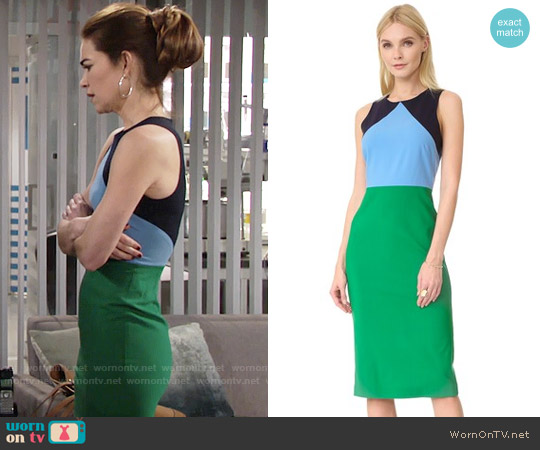 Diane von Furstenberg Sleeveless Midi Dress worn by Amelia Heinle on The Young & the Restless