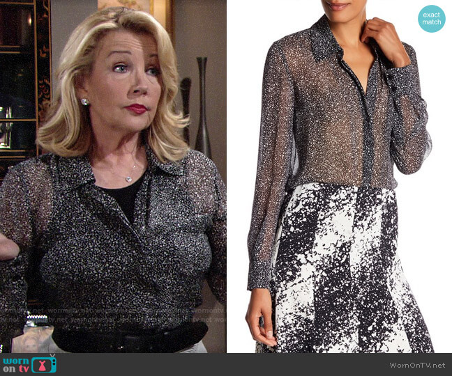 Diane von Furstneberg Carter Blouse worn by Nikki Reed Newman (Melody Thomas-Scott) on The Young & the Restless