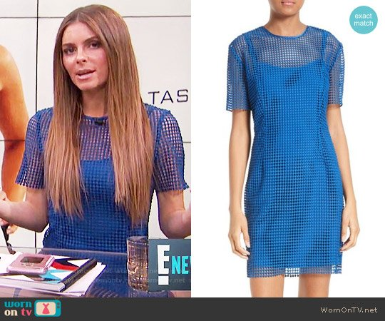 Diane von Furstenberg Chain Lace Dress worn by Maria Menounos on E! News