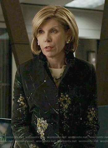 Diane's floral jacket on The Good Fight