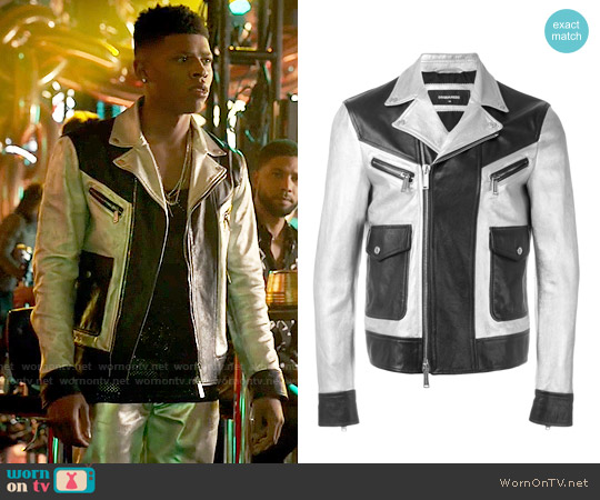 DSquared2 Two Tone Leather Jacket worn by Bryshere Y. Gray on Empire
