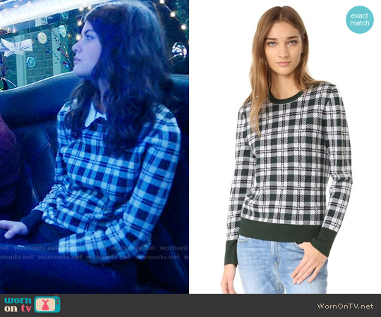 Equipment Shane Plaid Sweater worn by Sofia Black D'Elia on The Mick