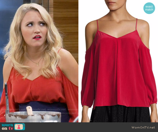 Joie Eclipse Blouse worn by Gabi Diamond on Young & Hungry