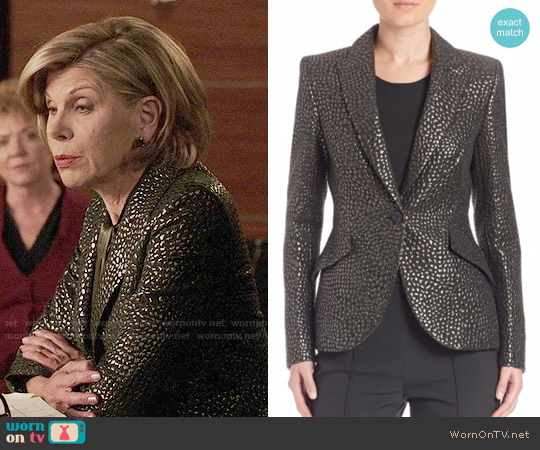 Escada Full Sleeve Fitted Blazer worn by Christine Baranski on The Good Fight