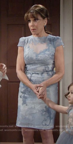Esther's blue lace dress on The Young and the Restless