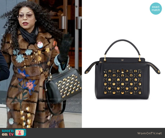 Fendi DOTCOM Studs Calfskin Leather Satchel worn by Cookie Lyon on Empire